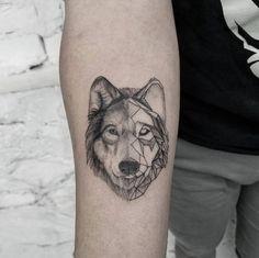Geometric wolf by Mr. Koo
