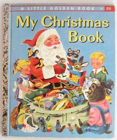 'My Christmas Book' Little Golden Book 1957, ill.Richard Scarry (cover) & Sheilah Beckett | eBay