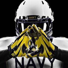 Nike Navy Rivalry Vapor Jet Football Gloves | ArmedForcesGear.com | Armed Forces Gear