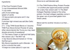 Trim Healthy Mama-PUMPKIN PIE SHAKE