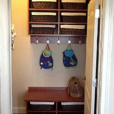 Mudroom storage for a small space