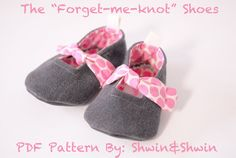 Forget-Me-Knot Shoes {Free PDF Pattern}