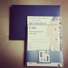 Gorgeous Art Deco/Gatsby Invitation Suite by Tweedle Press