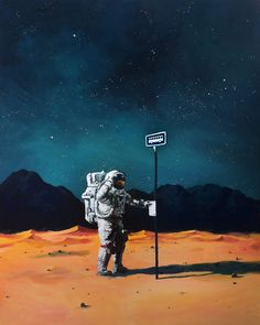 I Paint Astronauts, Flying Fruits And Bus Stops Set In The Danish Wilderness | Bored Panda