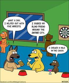 Chewing is an exhausting job. Dog Jokes, Cartoon Jokes, Funny Dog Memes, Cartoon Dog, Funny Animal Memes, Funny Cartoons, Funny Comics, Funny Dogs, Funny Animals