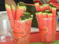 Watermelon sticks - fun snack                                                                                                                                                      More