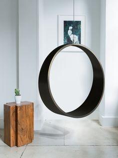 Circle Swing ~ New Citizen Design Chair Design, Furniture Design, Oak Plywood, Linseed Oil, Swinging Chair, Minimalist Design, Indoor, Design Products, Interior Design