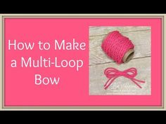Quick Crafting Tip - How to make a multi-loop bow Stampin' Up!, card, paper, craft, scrapbook, rubber stamp, hobby, how to, DIY, handmade, Live with Lisa, Lisa's Stamp Studio, Lisa Curcio, www.lisasstampstudio.com