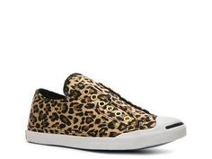Leopard print slip-on sneakers? I might need to get these. $59.95 Converse Women's Jack Purcell Cheetah Print Laceless Sneaker Sport Casual Women's Shoes - DSW