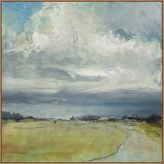 This painting is a fresh take on the traditional landscape. It features painterly strokes and a loose composition making it casual and transitional. I love the