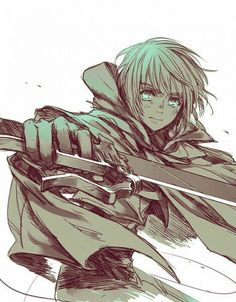 Armin Arlert - Attack On Titan/Shingeki no Kyojin. Manga Anime, Fanart Manga, Me Anime, Anime Art, Anime Boys, Mikasa, Tokyo Ghoul, Kuroko, Haruhi Suzumiya