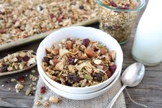 """Abby Carrier on this delicious crunchy quinoa granola recipe: """"A couple of years ago, Pinterest inspired me to make my own homemade granola. Now, I have my own granola board! It's the perfect post-morning workout healthy breakfast paired with greek yogurt and topped with fresh fruit."""""""