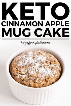 Cinnamon Apple Pie Keto Mug Cake? With this super easy Keto Dessert (Low Carb Dessert) you can have the cake and eat it too! Only net carbs per serving paleo & gluten-free! Low Carb Mug Cakes, Vegan Mug Cakes, Low Carb Desserts, Low Carb Recipes, Apple Dessert Recipes, Mug Recipes, Keto Dessert Easy, Keto Apple Recipes, Steak Recipes