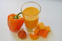 Ciao Bella Juice Ingredients: 1 orange 1/2 mango 1/4 butternut squash (about 1 cup cubed) 2 small golden beets (beetroot) 1 orange pepper (capsicum) 1/2 lemon