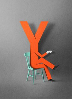 Lyst by Eiko Ojala, via Behance 3d Typography, Hand Lettering, Collages, Eiko Ojala, Paper Art, Paper Crafts, Graphic Design Inspiration, Paper Cutting, Creations