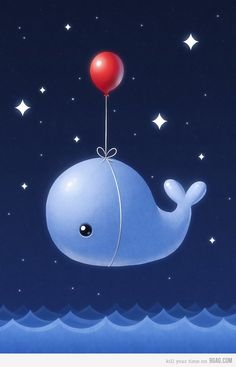 Whale and Balloon :D