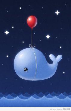 Whale + balloon