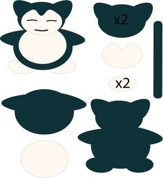Snorlax Pattern by on DeviantArt Plushie Patterns, Felt Patterns, Craft Patterns, Softie Pattern, Festa Pokemon Go, Pokemon Party, Pokemon Birthday, Pokemon Craft, Pokemon Plush
