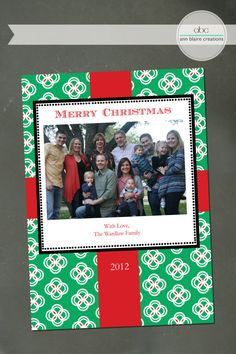 Custom Christmas Card Wrapping Paper by annblairecreations on Etsy, $15.00