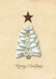 DIY Christmas ribbon tree card ⊱✿-✿⊰ Follow the Cards board. Visit GrannyEnchanted.Com for thousands of digital scrapbook freebies. ⊱✿-✿⊰