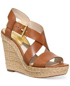 MICHAEL Michael Kors Giovanna Platform Wedge Sandals - All Women's Shoes - Shoes - Macy's
