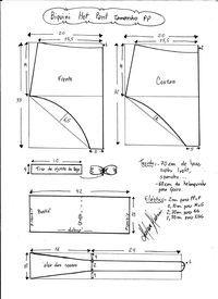 Esquema de modelagem de biquíni hot pant tamanho PP.                                                                                                                                                                                 Mais