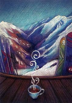 Elbrus. Illustration by Nokeek - Lena Gnedkova