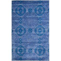 Safavieh Wyndham Blue Wool Area Rug 3' x 5' #Safavieh #Contemporary