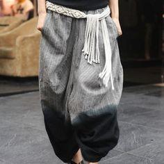 Loose Style Elastic Waist Pants
