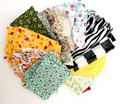 Scrap Fabric  Cotton Fabric  Flower Print  Random by HappyCosmos, $8.00