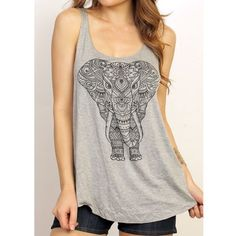 """🎈SUMMER SALE + 20% OFF BUNDLES! Elephant Tank Materials: 96% Rayon, 4% Spandex, Made in the USA 🇺🇸 Hand wash only.  One LARGE left!  bust - 18"""" length - 25""""  *All """"NWT Retail"""" items in my closet are brand new without tags. Boutique Tops Tank Tops"""