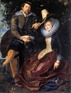 """""""Portrait of the Artist and his First Wife"""" - Peter Paul Rubens"""