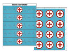 Doctor Nurse Printables Medical Bottle wrappers & Party Circles