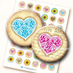 Valentines Garden 1 and 1.313 inch vintage bottle caps by InkFive