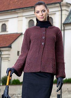 Ravelry: Jacket with Diamond Border pattern by Vladimira (Cmorej) Ilkovicova