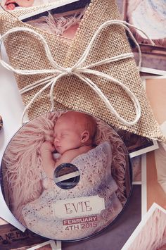 Handmade DVD cases and packaging for newborn photography