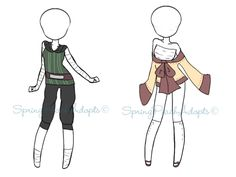 Naruto Outfit Adopts 5 [close] by SpringPeachAdopts.deviantart.com on @DeviantArt