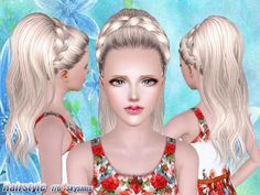 Braided hair 176 by Skysims - Sims 3 Downloads CC Caboodle