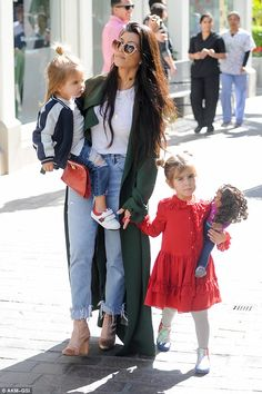 Step into spring with Kourtney's Stuart Weitzman boots #DailyMail Click 'Visit' to buy now