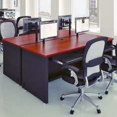 """Enclosed Classroom Desk 60"""" Wide.  Available in eight color combinations, the Enclosed Versa Desk is one of our most popular. Ideal for offices or classrooms it accommodates two users. Grommet holes in the desktop allow for computer monitors to be installed above the desk's surface reducing clutter and increasing usable workspace. Starting at $329"""