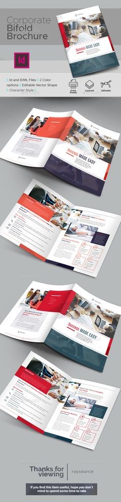 Corporate Bifold Brochure Template InDesign INDD