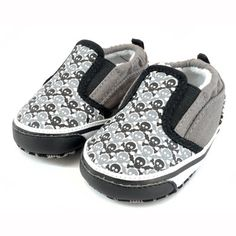Shoes - ME-IN-MIND Chex skull slip-ons