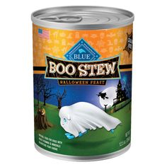 Pick up something special for a Halloween meal, the BLUE™ Boo Stew Dog Food - PetSmart $2.02