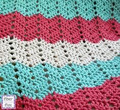 Fiber Flux: Free Crochet Pattern...Boardwalk Breeze Blanket!