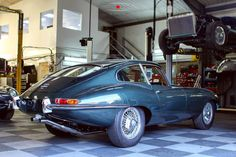 We love Opalescent Green. This full restoration is having the final touches before shakedown begins. #jaguar #etype #classicjaguar #jaguaretype #supercar #sportscar #car #beautiful #forsale #carforsale #jaguarforsale #classiccarforsale #classic #cars #classsiccar #drivetastefully #petrolicious #series1 #series2 #series3 #V12 #british #britishindustry #carsofinstagram #exotic #luxury #exoticcar #exoticcars #coolcars