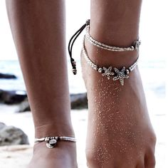 Cute Starfish Anklet #anklets