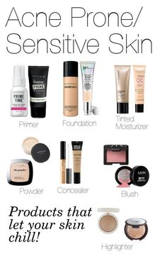 """Basic Face Makeup(Acne-Prone/ Sensitive Skin)"" by fivesecondsofinspiration ❤ liked on Polyvore featuring beauty, Bare Escentuals, CC, Bourjois, Maybelline, MAKE UP FOR EVER, NARS Cosmetics, ULTA, Becca and Topshop"