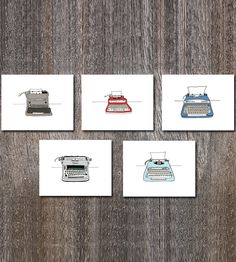Typewriter Card Assortment, 10-Pack | Send a quick hello to a friend with these adorable typewriter ... | Greeting Cards