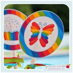 Rainbow Pretty Tags