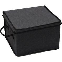 Canopy Collection Medium Lidded Box, Rich Black Charcoal with Rich Black Trim (walmart) $8